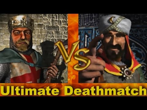 Richard vs Saladin - Ultimate Deathmatch  Stronghold Crusader AI-Battle
