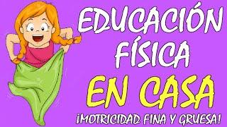 JUEGOS para NIÑOS en CASA, divertidos y CON MATERIAL RECICLADO para una EDUCACIÓN FÍSICA EN CASA😍