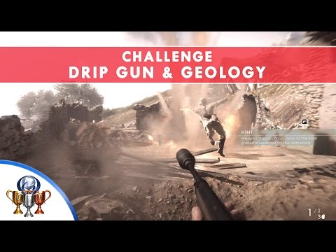 Battlefield 1 Codex Entry Challenges - Drip Gun & Geology - The Runner Sidearm and Rifle Grenade