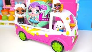 LOL Surprise Doll Sports Girl Pink Truck Hello Kitty  Toy Soda