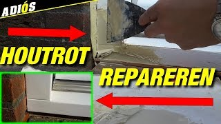 HOUTROT REPAREREN MET EEN TRUCJE!  / How to Fix Wood Rot HACKS!