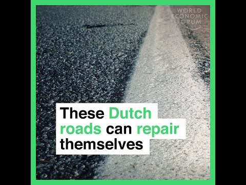 These Dutch roads can repair themselves