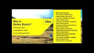 Idea honey bunny song lyrics - Idea theme song