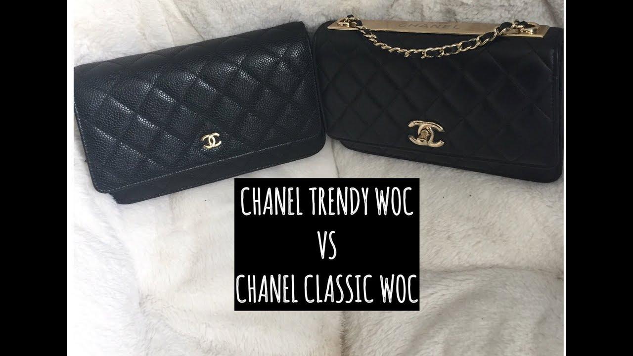f4ade5871cd0 CHANEL TRENDY CC WOC VS CLASSIC WOC - YouTube