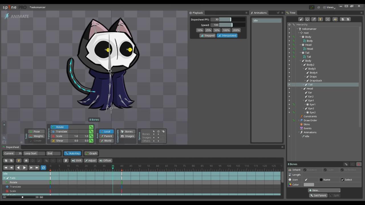 Anima2D vs Unity's new 2D Animation vs Spine - alienflaky