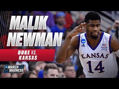 Kansas' Malik Newman was on fire in the Jayhawks Elite 8 victory