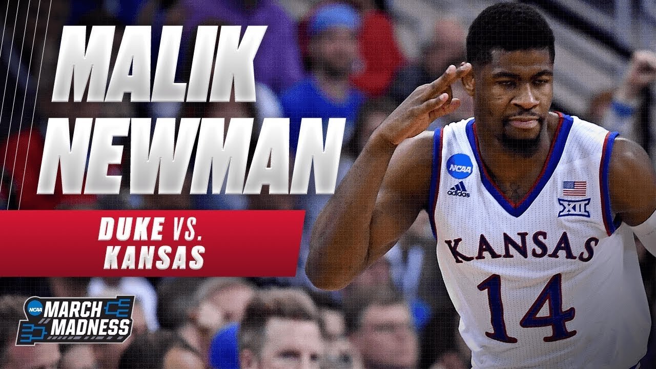 83b44429248 Kansas  Malik Newman was on fire in the Jayhawks Elite 8 victory ...