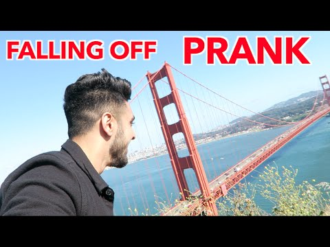 FALLING OFF GOLDEN GATE BRIDGE PRANK! (Vlog #141)