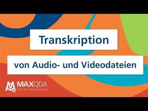 Transkription Von Audio- Und Videodateien Mit MAXQDA 2020