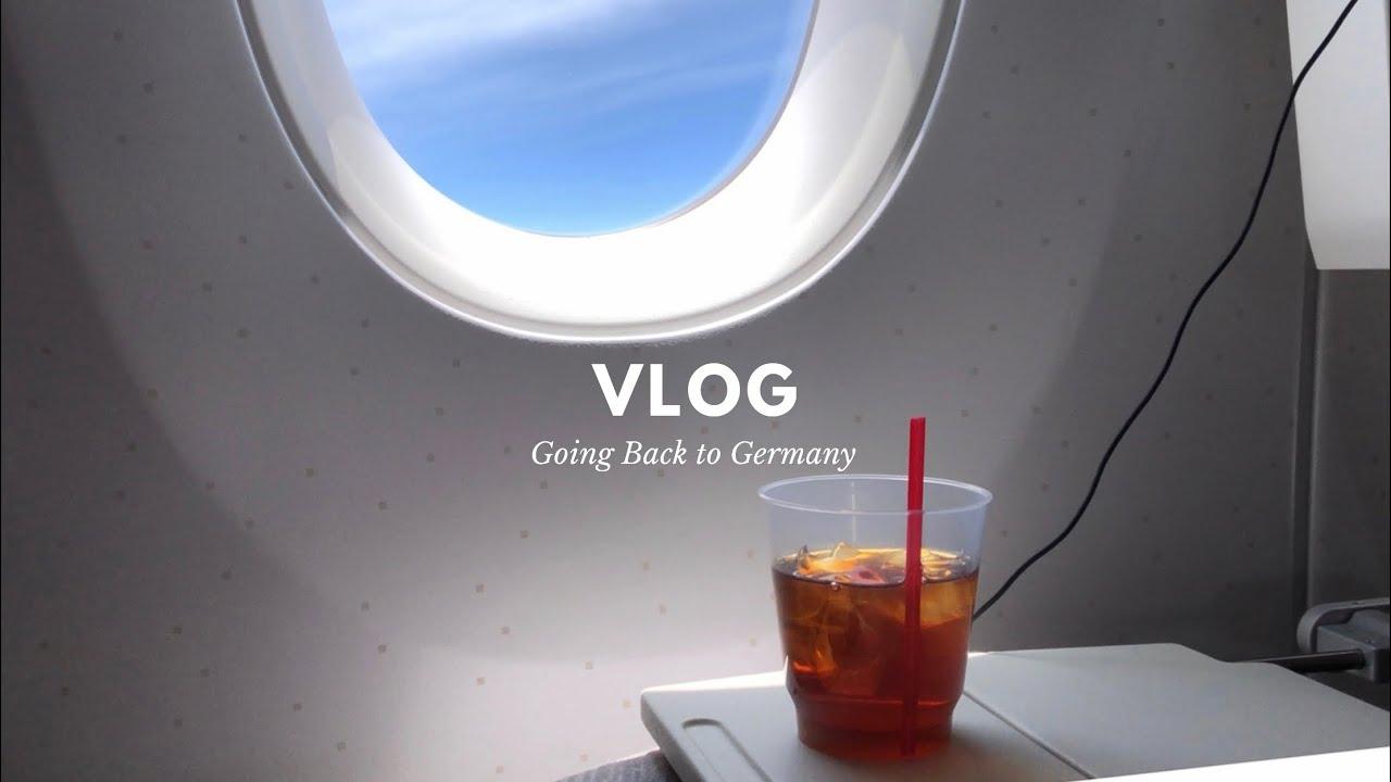 독일 대학생 브이로그 🇩🇪   시험 치러 독일 가는 대학생...✈️   비행기에서 쌈싸먹기