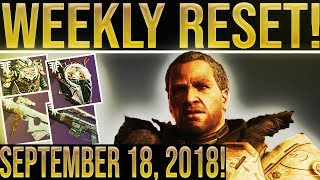 Destiny 2 WEEKLY RESET! Iron Banner Inventory, New Petra Location, All Powerful Gear Sources 9-18