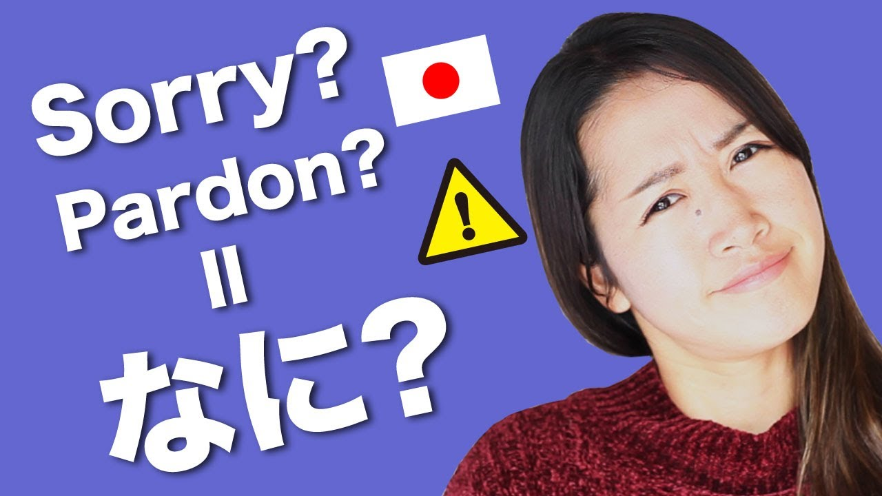 "Are you saying Nani? as ""Sorry?"" What to say when you didn't understand (Speaking only in Japanese)"