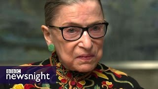 'It's not the best of times'  Rare interview with Justice Ruth Bader Ginsburg   BBC Newsnight