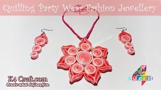 DIY: Beautiful Quilling Paper Party Wear Jewellery at Home -Diwali Pooja Special