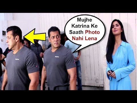 Salman Khan Gets Angry And Ignores Katrina Kaif When Media Ask For Pictures Together