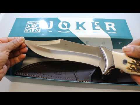 Joker Antler Scales Hunting Knife