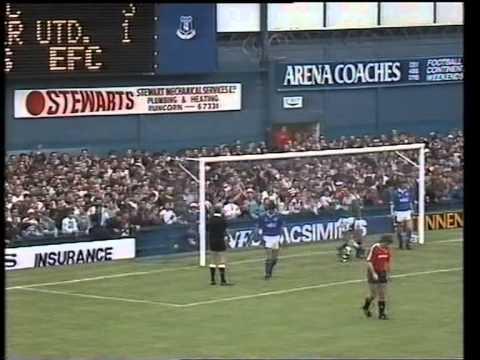Everton 3 Man Utd 2 - 09 September 1989