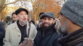 When you became embarrassed of the bible! Br Hashim Vs 3 christians Speakers Corner Hyde Park