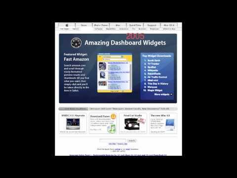 Apple Website Homepag Timelapse (1996-2012)