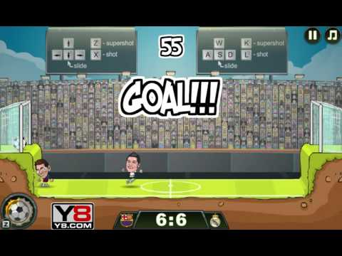 Football Legends 2016 gameplay Y8 - Messi vs Ronaldo
