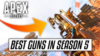 The Top 5 BEST Guns In Apex Legends SEASON 5! (Season 5 Tips & Best Weapons In Apex)