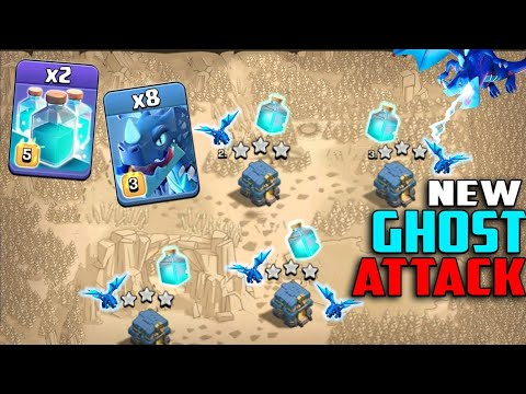 8 Electro Dragon + 2 Max Clone Spell + 14 Max Balloon :: NEW TH12 GHOST 3 STAR ATTACK STRATEGY 2019