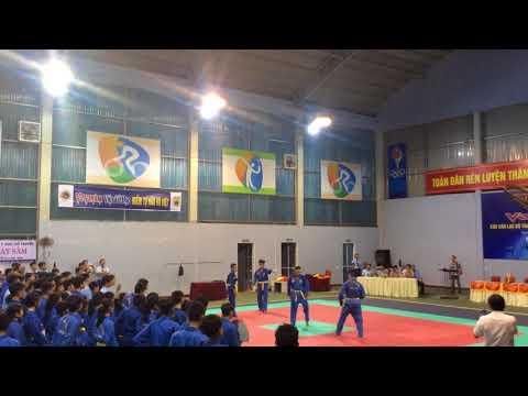 Đòn chân tấn công. Khai mạc giải vô địch Vovinam Quảng Bình lần II 2018