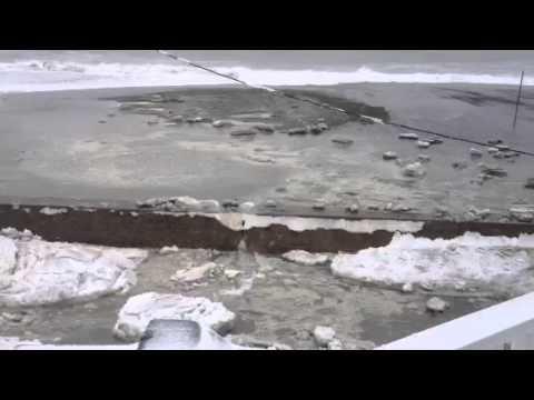 Blizzard of 2013 ocean flooding Winthrop, MA