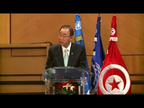 Ban calls on Tunisia to get young people into work