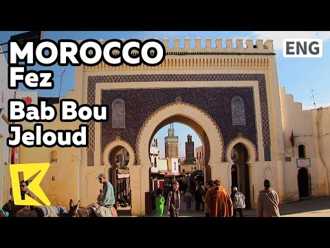 【K】Morocco Travel-Fez[모로코 여행-페스]메디나의 관문, 밥 부즐루드/Bab Bou Jeloud/Medina/Gate/UNESCO/Arch/Blue Gate