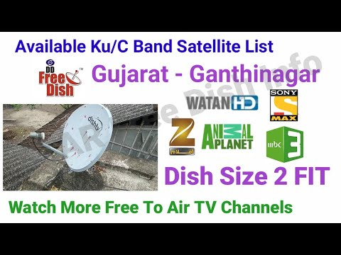 Available Ku/C Band Satellite List Gujarat Ganthinagar, Watch More Free To Air TV Channels