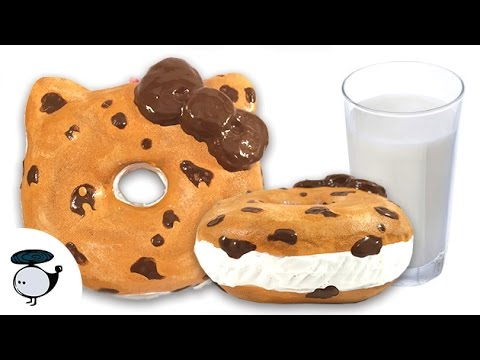 Squishy Chocolate Chip Cookies : DIY DECO SQUISHY TUTORIAL: CHOCOLATE CHIP COOKIE SANDWICH - YouTube