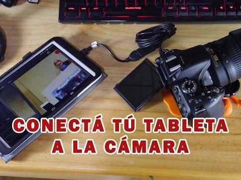 Usa tu tablet como monitor de tu cámara DSLR