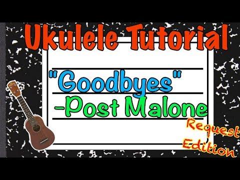 """Goodbyes"" Ukulele Tutorial - Post Malone - Teach me Tuesday thumbnail"
