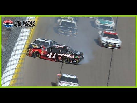 Kurt Busch crashes into Chase Elliott at Las Vegas