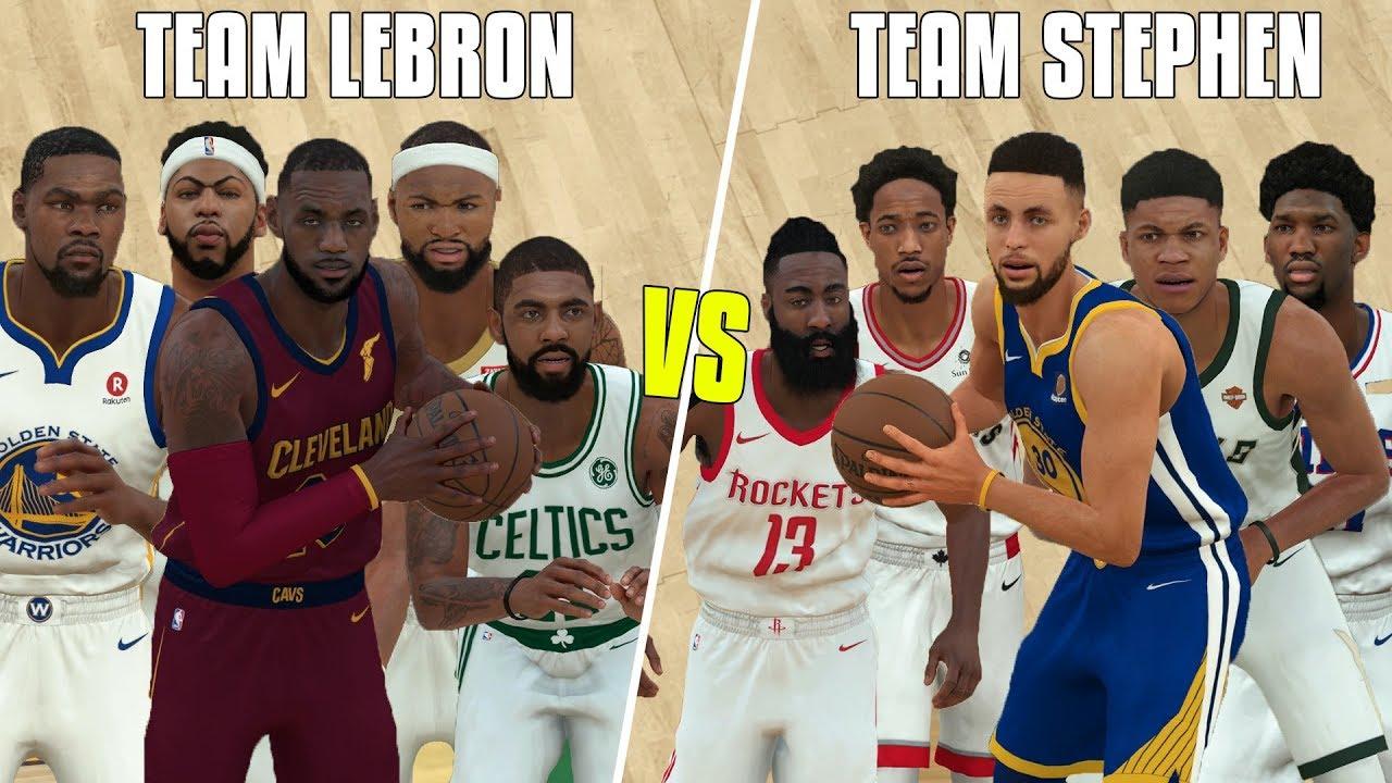 a1933d8e6 Team Lebron VS Team Stephen 2018 All Star Game In NBA 2K18! - YouTube