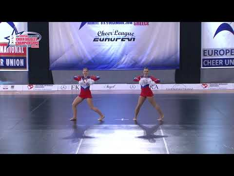 01 SENIOR DOUBLE FREESTYLE POM Shchitova   Volkova ELY RUSSIA
