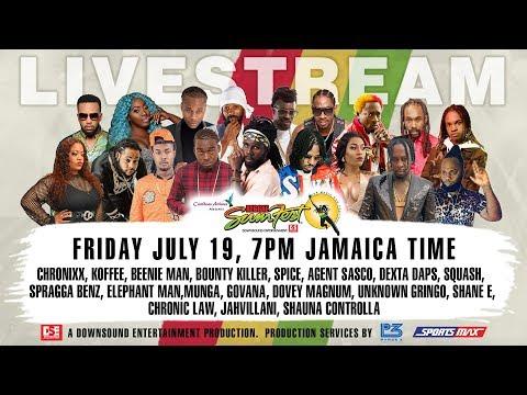 Livestream Reggae Sumfest Dancehall Night, Beenie Man