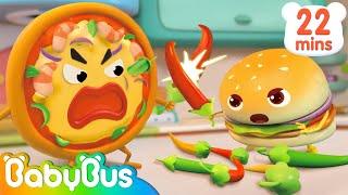 Hamburger Rescue Team   Yummy Foods Animation   Nursery Rhymes   Kids Songs   BabyBus