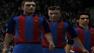 PC Retro FIFA 2004 Barcelona x Real madrid gameplay