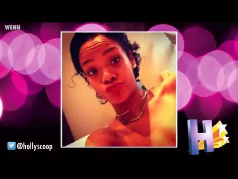 Rihanna Shows Off Her Curly Short Hair In Candid Pics