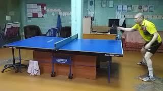 Настольный теннис. Тренировка с возвратной доской