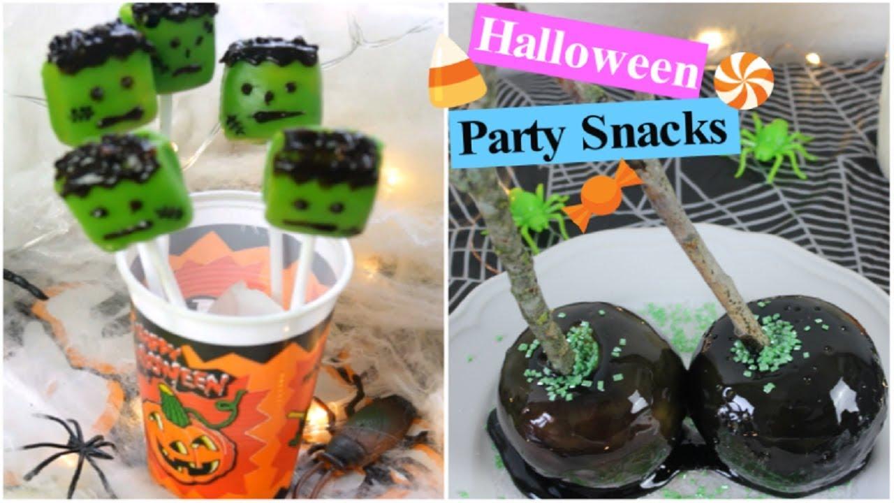 3 halloween snacks ideen youtube. Black Bedroom Furniture Sets. Home Design Ideas
