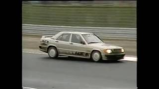 EPIC 1984 Ayrton Senna Mercedes Saloon Car Race at Nurburgring  - Full Test + Race