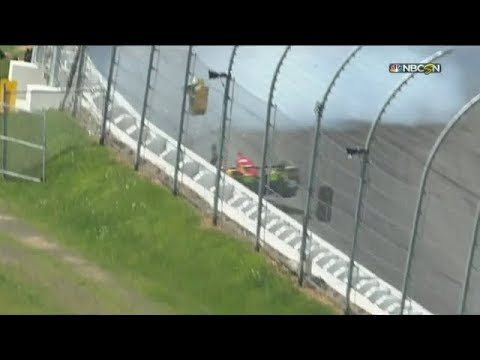 2017 ABC Supply 500 - Ryan Hunter-Reay crashes during qualify