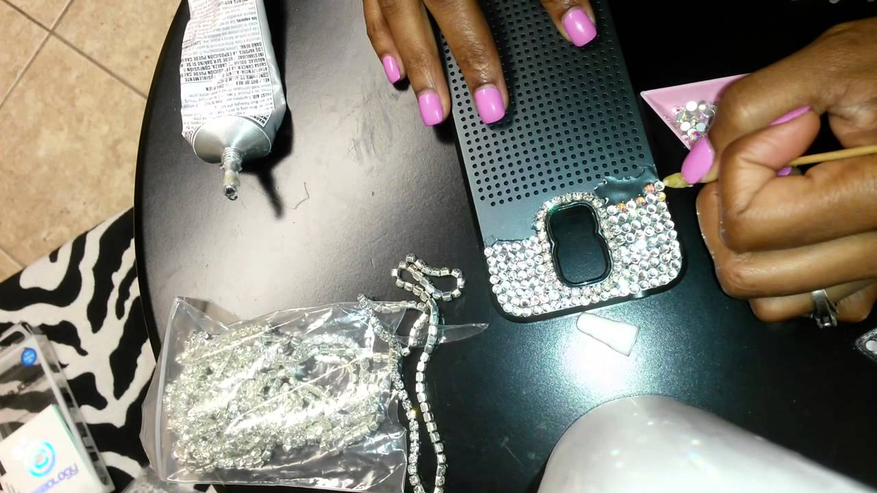 Sparkly Diy Rhinestone Cell Phone Case Youtube