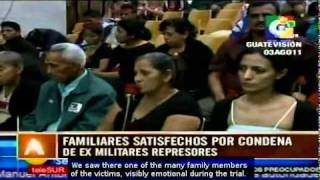 Historic sentence in Guatemala: former soldiers found guilty