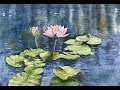 How to paint water lilies in watercolor | watercolor flower painting