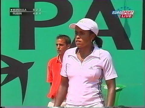 Chanda Rubin Vs Petra Mandula French Open 2003 (3.Set Partly)