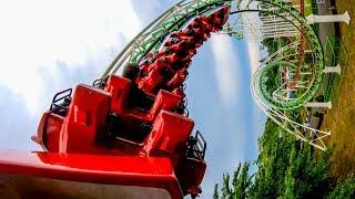 Riding the Corkscrew Roller Coaster at Benyland Japan Multi Angle Onride POV